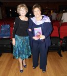 Con Paloma Gómez Borrero